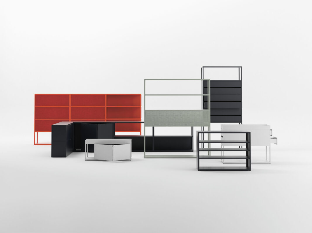 good new order shelving with hay new order kast with diez meubelen. Black Bedroom Furniture Sets. Home Design Ideas